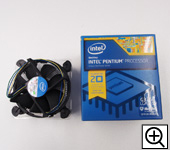 CPUのパッケージにはリテールファン、説明書、ロゴシールが同梱されています。
