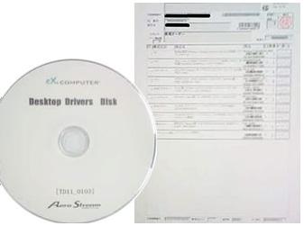 ドライバーディスクと構成部品一覧リスト
