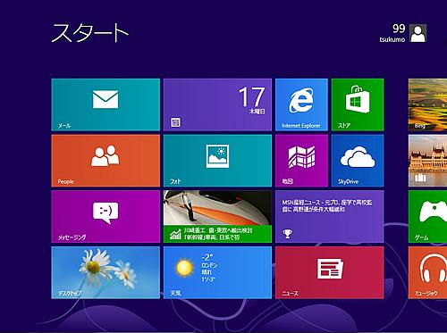 Windows 8 のリセットの完了